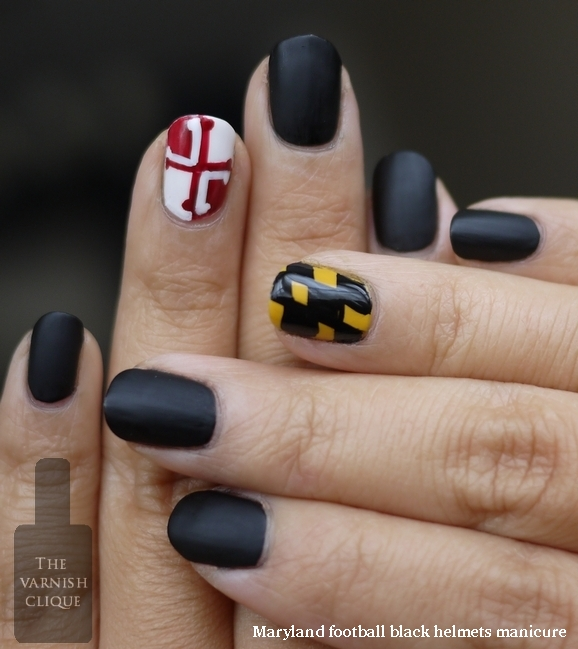 maryland football matte black helmet mani