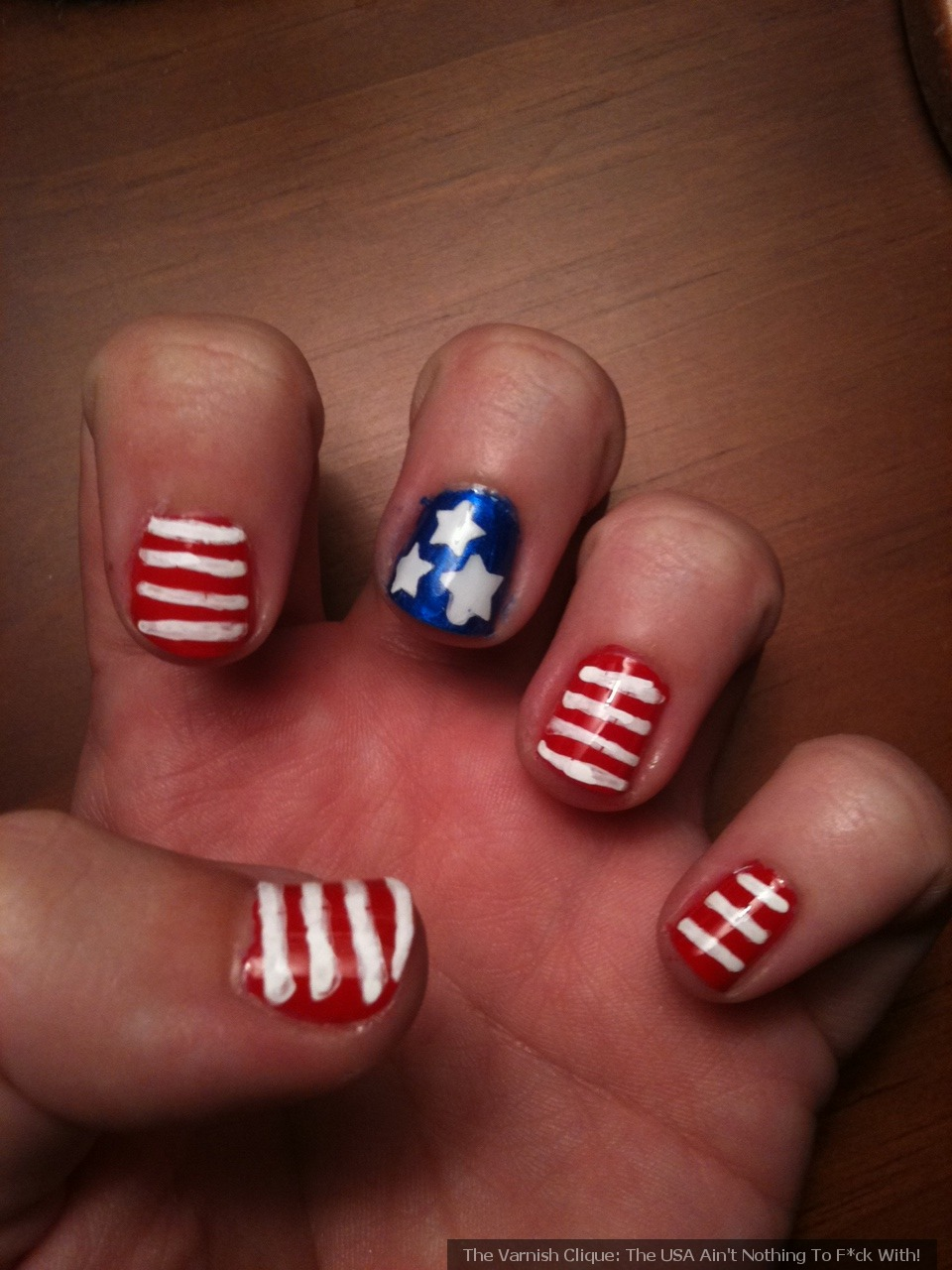 Patriotic Nail Art Labor Day The Varnish Clique
