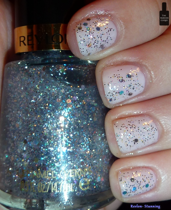 Revlon- Stunning over Essie- Real Simple | The Varnish Clique