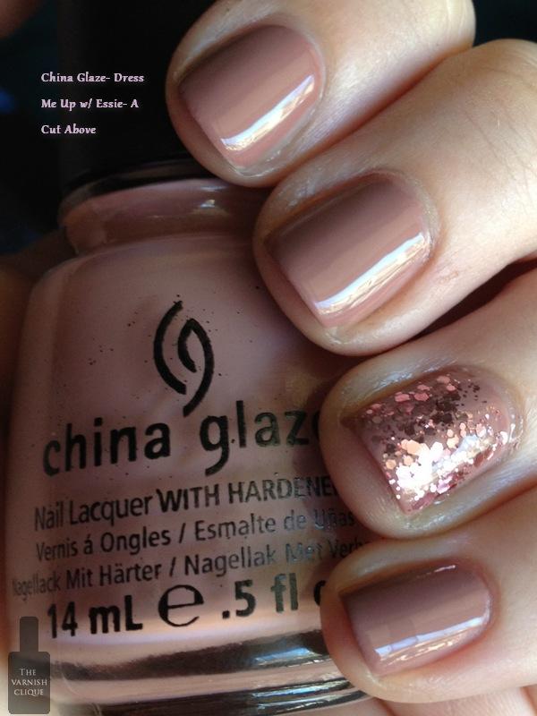 China Glaze- Dress Me Up w/ Essie- A Cut Above | The Varnish Clique